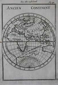 Image Is Loading Original Antique Map EASTERN HEMISPHERE EUROPE ASIA AFRICA