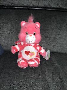 Care-Bear-Love-a-Lot-PJ-Party-Plush-Hoodie-8-034-w-original-tag