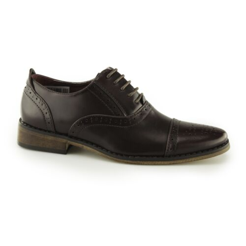 Goor FRANCIS Boys Leather Lined Lace Up Smart-Casual Formal Brogue Oxford Shoes