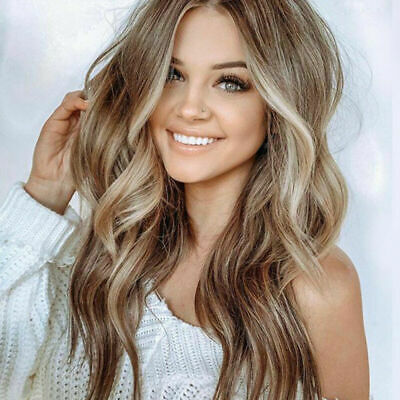 Fashion Women S Long Curly Wigs Brown Gold Blonde Wavy