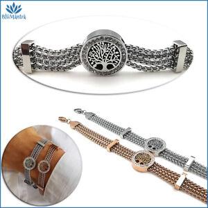 Bracciale da donna multifilo con albero della vita in acciaio inox braccialetto