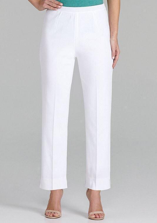 Ming Wang Blanc Doublé Tricot Cheville Pantalon S, L, XL