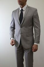 Ralph Lauren Slim Fit Light Grey Pinstriped 2 Piece 100 Wool Men's ...