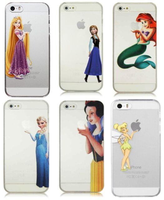 Cartoon Princess Elsa Snow White Ariel for iPhone Transparent Hard Case Cover