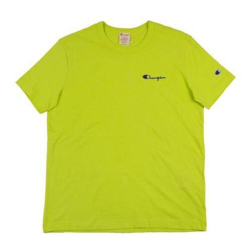 Champion Reverse Weave S-Script Logo Crewneck Tee 211985 Green Confection