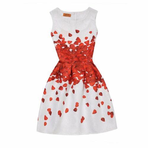 Girl wedding dress Print Tank child Dress Kids Dress Birthday Gift  Age 5-13Y