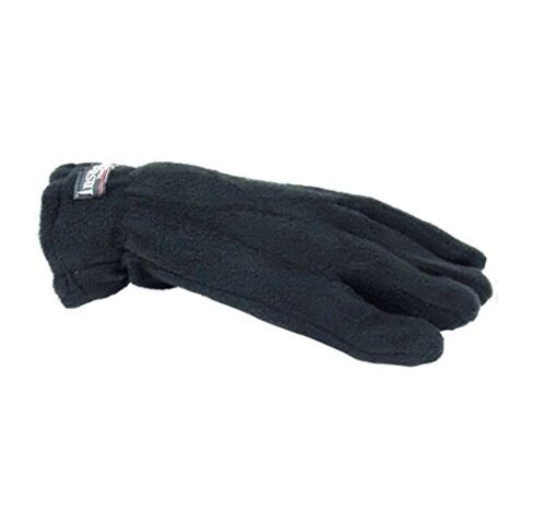 Black Color One Size Ladies Fleece Thermal Gloves Outdoor Sports Winter
