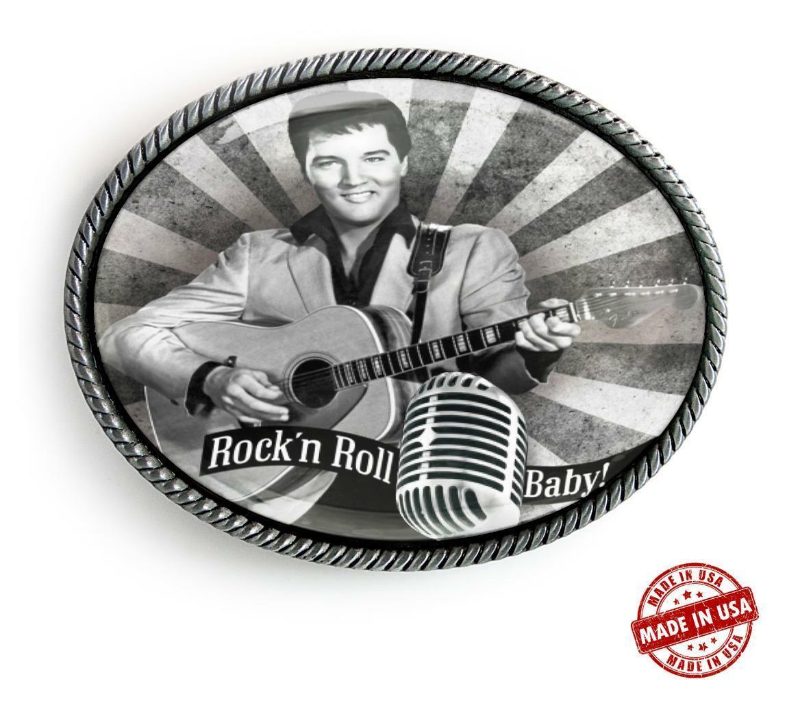 Elvis Presley Rock'n Roll Baby Handmade Artisan Rockabilly Belt Buckle