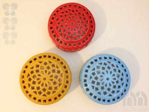 Handarbeit Wandleuchte kreisförmig Ø 18 cm handbemalt Keramik orientalisch
