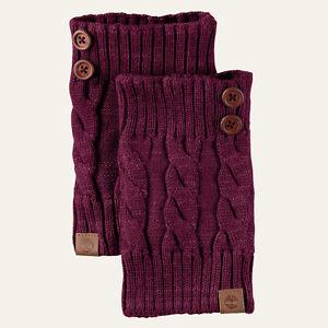 Timberland Womenu0026#39;s Chunky Knit Acrylic Grape Boot Cuffs ...
