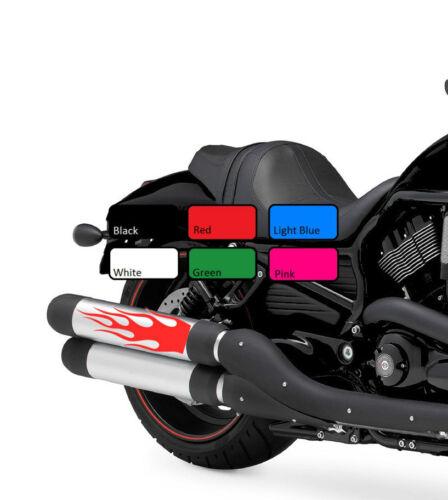 2 x Flame 120 Fuel Tank Fire Vinyl Motorcycle Motor Decal Sticker Motorbike Bike