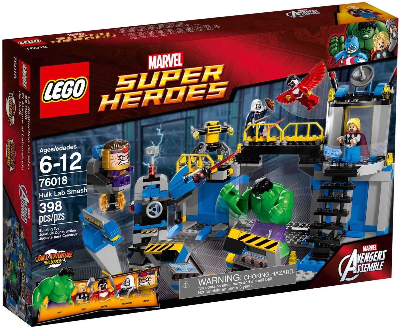 Nuevo Sellado Lego 76018 Marvel Avengers Hulk Lab Smash Thor