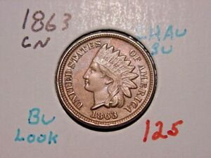 1863-CN-INDIAN-HEAD-CENT-CHOICE-AU-BU-NICE-COLOR-LUSTER-BETTER-DATE-COIN