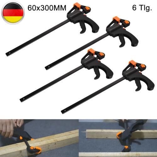 4 Pcs Schnellspannzwingen Schraubzwingen Schraubstock Einhandzwingen Set 300 Mm