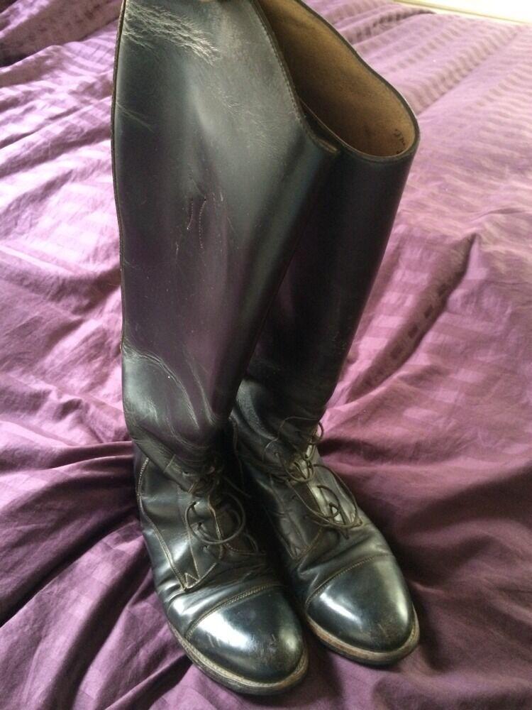 Inglés Effingham para mujer botas de montar, tamaño 9, negro Hecho en EE. UU.