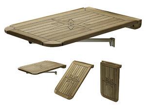 talamex 38x60 teak tischplatte wandmontage wand klapptisch. Black Bedroom Furniture Sets. Home Design Ideas