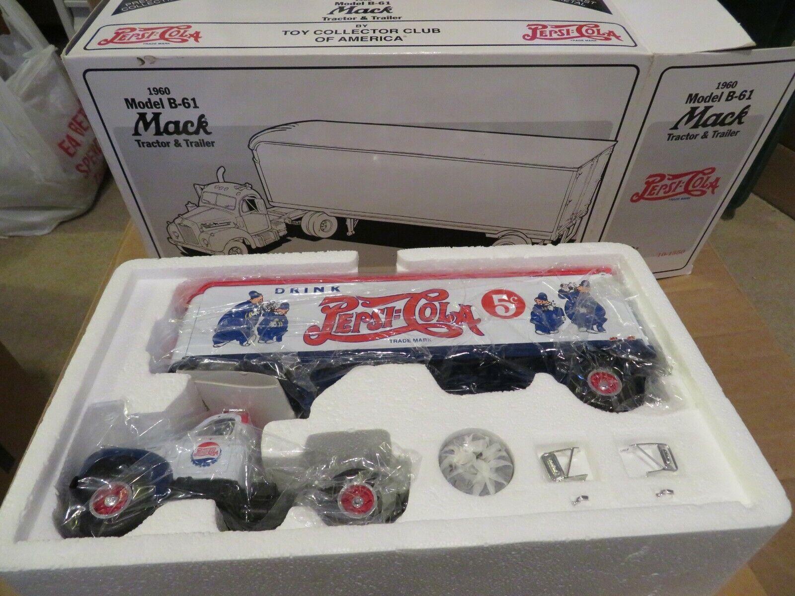 First 1st Gear 1960 Model B-61 Tractor&Trailer Pepsi-Cola 1 34 Scale 1995 MIB