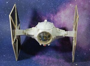 VINTAGE STAR WARS COMPLETE IMPERIAL WHITE TIE FIGHTER KENNER WORKS!