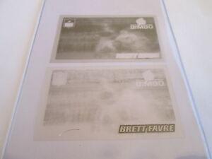 Rare-1996-Pinnacle-Bimbo-Bread-ACETATE-OVERLAY-PROOFS-3-4-Brett-Favre-Packers