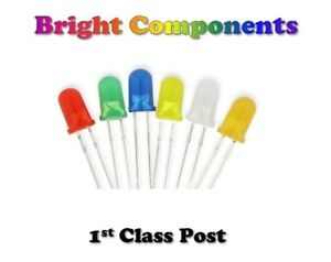 Diffused-LEDs-1-8mm-3mm-5mm-Red-Blue-White-Green-Yellow-Orange-1st-CLASS-POST