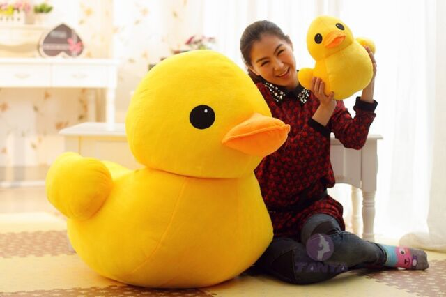 "70cm(28"") Giant Yellow Duck Stuffed Animal Plush Soft Toys Cute Doll Pillow ^-^"