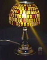 Electric Glass Metal Yellow/red Mosaic Oil Warmer/burner Lamp With Bonus Oil