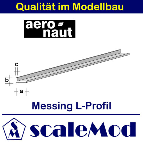 Aeronaut 4,50 EUR//m 7746//76 Messing L-Profil 1000mm // 4,0x2,0x0,50 mm