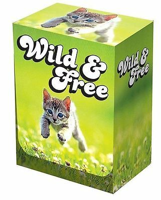 Legion Wild & Free Kitten Deck Box holds 100 sleeved cards Magic Yugioh Pokemon