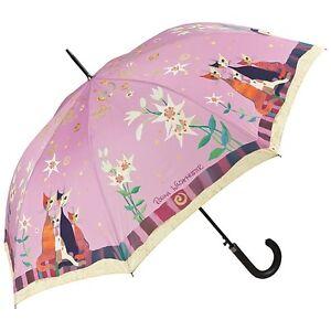 Regenschirm-Automatk-Blumen-rosa-Motiv-Kunst-Katzen-Rosina-Wachtmeister-Lilien