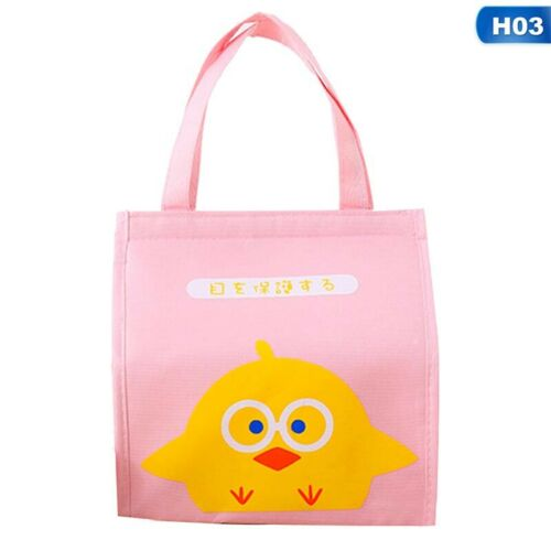 Lunch Box Bag Aluminum foil Thickened Oil-proof Canvas Lunch Bag QE