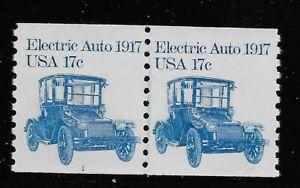 Etats-Unis Scott #1906, plaque ligne #1 Paire 1981 électrique Auto 17 C Commission du Prix final neuf sans charnière