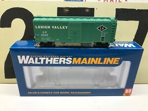 Walthers-HO-Scale-LV-Lehigh-Valley-40-AAR-Modified-Boxcar-RD-65117-RTR-New