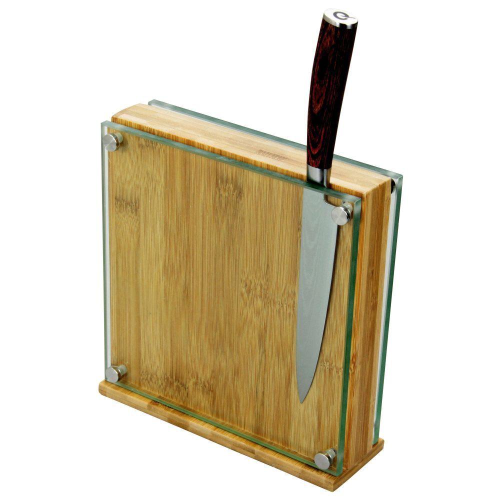 più economico BAMBOO universale magnetica blocco blocco blocco di Coltello 8 -10 pollici  a buon mercato