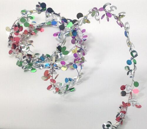 Multi color Metallic #100 Birthday Anniversary Wire Garland 9 ft