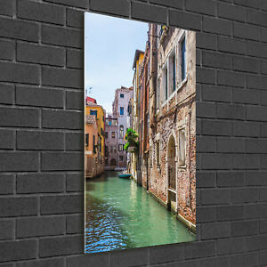 Wandbild-Kunst-Druck-auf-Hart-Glas-senkrecht-50x100-Venedig-Italien