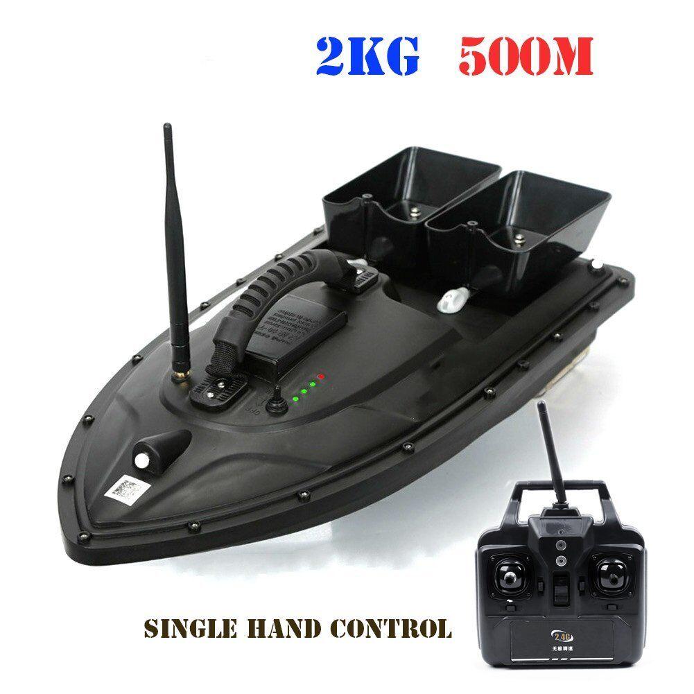 500M Draadloze RC Fishing Bait Boat with 2 Motors Single Hand Control