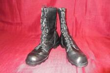 Military Boots 6 1/2 R Black Leather Combat USGI Hunting Men Work Boys #369