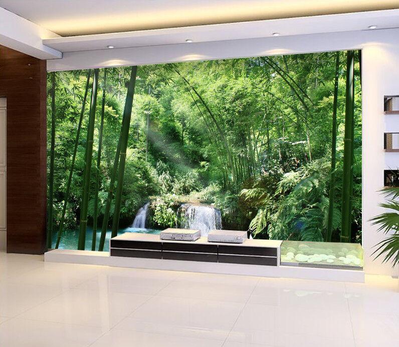 3D greenes Waldseewasser5 Tapete Tapeten Mauer Foto Familie Tapete Wandgemälde DE