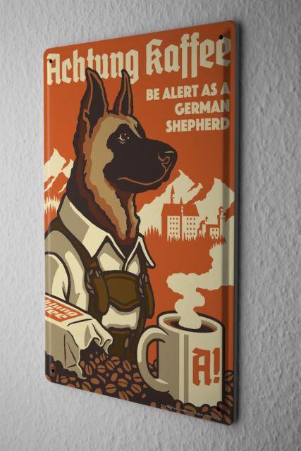 Tin Sign Animal Shelter German Shepherd