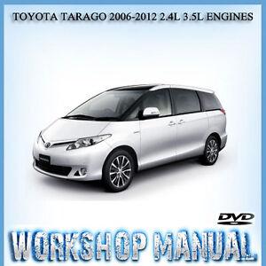 toyota tarago 2006 2012 2 4l 3 5l engines workshop service manual in rh ebay com au toyota tarago owners manual pdf toyota tarago owners manual pdf