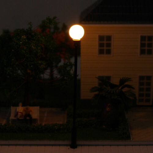 10X Modellbahn Laternenpfähle Runde Straßenlaterne Antike Lampe LQS26 Spur 0
