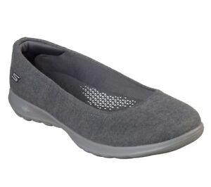 Skechers-Women-039-s-Slip-On-Casual-Comfort-Shoes-Go-Walk-Lite-Dreamy-15403-Charcoal