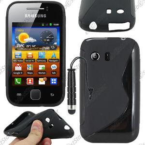 Housse-Etui-Coque-Silicone-S-line-Gel-Noir-Samsung-Galaxy-Y-S5360-Mini-Stylet
