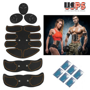 Electric-Muscle-Toner-EMS-Machine-Wireless-Toning-Belt-Abs-Burner-6-Pack-6-Pads