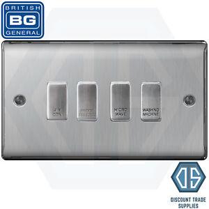 BG Brushed Steel Custom Grid Switch Panel Labelled Kitchen Appliance ...