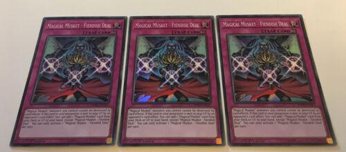 SPWA-EN027 MAGICAL MUSKET FIENDISH DEAL Super Rare 1st Ed NEW 3 X YuGiOh