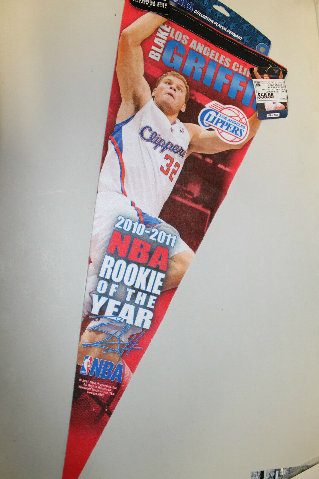 Blake Griffin LA Clippers  NBA PENNANT - BRAND NEW