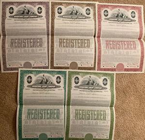 Duquesne-Light-Company-Set-of-5-Odd-Bond-Certificates-SPECIMEN