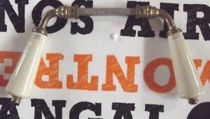 """Ancienne Paire de Poignée porte Serrurerie Porcelaine Limoges Laiton Doré Vintag - France - Commentaires du vendeur : """"Ancienne Paire de Poignée porte Serrurerie Porcelaine Limoges Laiton Doré Vintage 1950 France Paris Pair of Porcelain Locksmith Door Handlevendu par paire , ces poignée sont ancienne et certaines comportes des déf - France"""