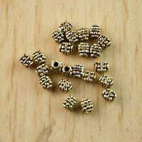 150pcs dark gold-tone studded beads h1295